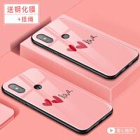 小米8手机套 小米8SE保护壳 米8 mi8se手机外壳 个性创意硅胶软边彩绘卡通钢化玻璃保护套潮男女款网红