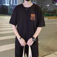 春夏款t恤男2019新款韩版潮流修身休闲圆领体恤夏装潮牌半袖衣服TX19011