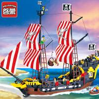 一号玩具 启蒙乐高式积木小颗粒拼插模型男孩礼物儿童益智玩具海盗系列黑珍珠308