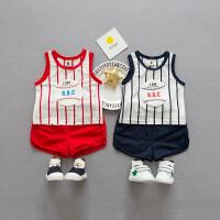 宝宝夏装男套装1一3岁潮婴儿夏季衣服背心套装婴幼童夏装两件套韩