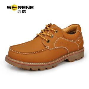 西瑞男士休闲工装鞋秋季鞋子男新品英伦户外复古大头鞋潮低帮耐磨6212