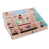 上世 韩国可爱化妆品储物盒 纸质9格整理盒