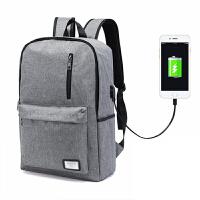 双肩包男 时尚休闲多功能双肩电脑背包可充电旅行书包男女通用版