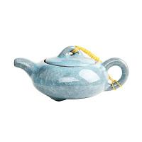 尚帝 台湾冰裂壶 功夫茶具配件 瓷器 冰裂茶壶 陶瓷茶壶 茶具茶壶 天蓝色 DPCHL801