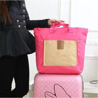 韩国多功能折叠购物袋便携旅行收纳包大容量单肩手提包防水包 颜色*