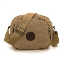 运动小包单肩斜挎包随身便携手机包男士迷你小包包休闲 横款卡其
