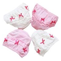 儿童内裤女童棉三角女宝宝婴儿幼儿0-6个月1-2-3-5岁面包裤