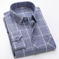 新款格子衬衫男士长袖韩版潮流修身衬衣商务休闲寸衫