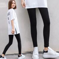 户外运动打底裤女裤薄款外穿韩版潮显瘦铅笔九分小脚黑色