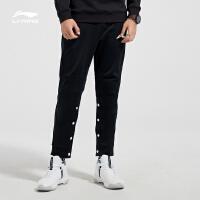 李宁卫裤男新款篮球系列长裤裤子男装冬季直筒针织运动裤AKLN877