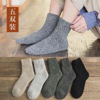 男士羊毛袜加厚加绒毛圈中筒袜保暖防臭长筒男袜