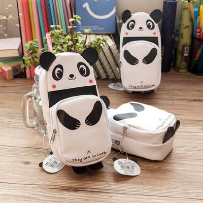 广博熊猫笔袋 多层大容量文具袋 创意小学生铅笔盒 韩国可爱男女生多功能PU铅笔袋 儿童文具盒少女心文具用品 关注有礼、PU材质、熊猫笔袋、可爱型大容量