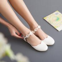 韩版女童凉鞋软底夏季公主鞋子12-15岁大童包头凉鞋软底