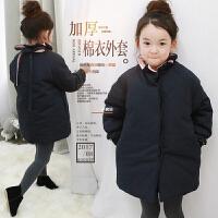 天天女童棉衣冬装韩版中大儿童纯棉加厚立领宝宝棉袄外套