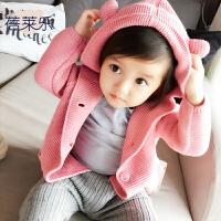 婴儿外套季0岁6个月宝宝新生儿春装休闲长袖上衣开衫款新年