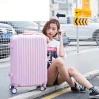 撞色万向轮拉杆箱20寸糖果色包角行李箱女韩版学生密码旅行箱 全粉色 20寸(买一送十 终身保修)