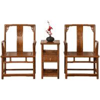 木官帽椅中式实木圈椅 靠背椅子老板椅太师椅 茶椅