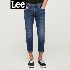 Lee男装 2018春夏新品深蓝色九分牛仔裤L117091VJ7ZB