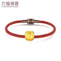 六福珠宝 足金硬金甜蜜honey黄金转运珠女款串珠手绳可作吊坠不含项链 定价L01A1TBP0039