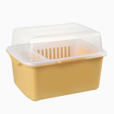 家英带盖欧式沥水碗架/餐具收纳盒-米色