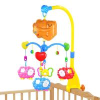 仙邦宝贝0-1岁婴幼儿旋转电动音乐宝宝床铃带灯光多款一件