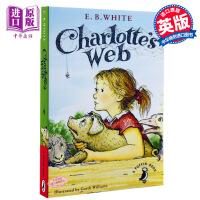 英文原版Charlotte's Charlottes Web 夏洛特的网/夏洛的网 E.B White怀特 纽伯瑞经典儿