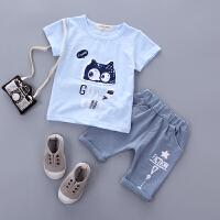 童装男童夏装女宝宝儿童短袖套装1-2-3-4岁婴幼儿外出服
