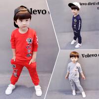 男童装套装女童宝宝小童运动卫衣儿童长袖两件套衣服外