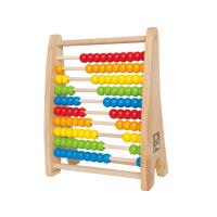 Hape彩虹珠算架3岁以上100粒珠算盘婴幼玩具木制玩具E0412