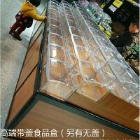 超市铝合金货架木质储物展柜散装饼干糖果柜零食展示架散称中岛柜