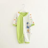 婴儿连体衣棉衣服宝宝新生儿哈衣03个月长袖春装睡衣1岁6