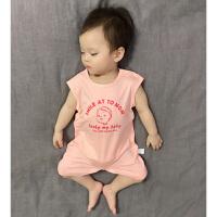 婴儿夏装连体衣薄款冰丝棉网红新生儿爬爬服宝宝外出哈衣婴儿衣服