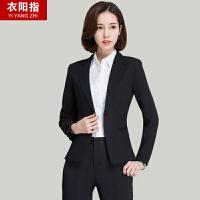 春秋职业装女装套装套面试正装韩版女士西装套装西服工作服三件套