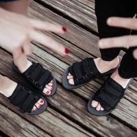 男士一字拖韩版男女拖鞋防滑情侣沙滩鞋越南凉鞋个性潮鞋