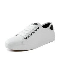 帆布鞋女 学生韩版白色板鞋女百搭系带女鞋子 ins平底布鞋女