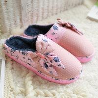 秋冬季棉拖鞋包跟厚底情侣家居防滑保暖居家男女月子拖鞋冬天
