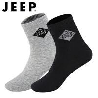 JEEP SPIRIT吉普袜子男薄款中筒男袜新品男士休闲棉袜运动袜透气吸汗四季短袜