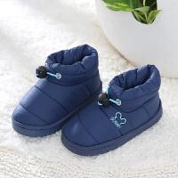 冬季棉拖鞋女包跟厚底防滑防水保暖居家用室内一家三口棉鞋男