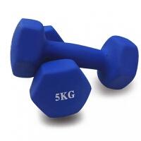 男士哑铃磨砂浸塑哑铃塑身瘦臂1/2/3/4kg健身跳操女式小哑铃