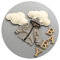 婴儿外套春秋0-1岁男宝宝上衣纯棉开衫新生儿外出衣服百天潮3-6月