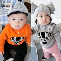 蓓莱乐1-6-0个月婴儿毛衣儿童冬装女童装男童装毛衣秋冬加厚开衫