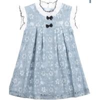 女童洋气裙子夏装童装女大童连衣裙蕾丝背心裙儿童公主裙
