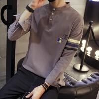 秋季男士长袖T恤男韩版修身圆领秋衣打底衫体恤上衣学生衣服潮流
