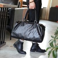 新韩版男包 单肩包斜挎包休闲男包大包潮流时尚手提包旅行包 黑色 大
