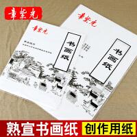 章紫光创作宣纸作品级熟宣纸毛笔书法练习纸国画专用四开八开加厚
