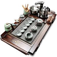 全自动茶具套装家用功夫实木茶盘四合一茶道电磁炉简约茶台茶海s3w