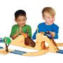 汪汪队立大功(PAW PATROL)男女孩拼接儿童益智轨道回力玩具模拟场景救援车套装