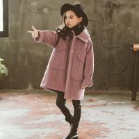 女童秋冬装呢子外套韩版洋气大儿童冬季加厚夹棉毛呢大衣