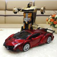 超大充电变形遥控汽车儿童金刚机器人电动兰博基尼赛车玩具车男孩