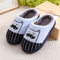 子棉拖鞋防滑卡通一家三口居家男女棉鞋包跟宝宝毛鞋秋冬季